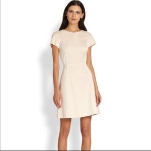 Rebecca Taylor Cream Ivory Python Paneled Dress